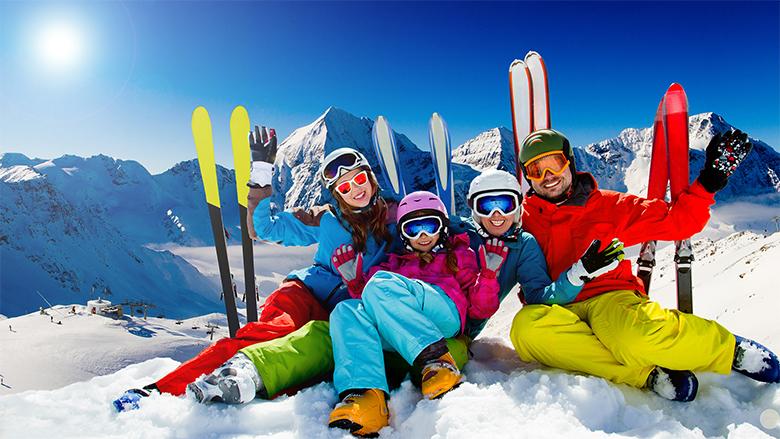 Kış tatili - kayak