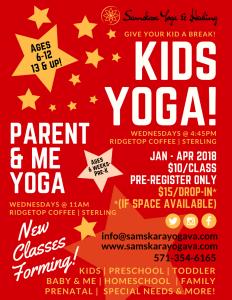 Samskara Kids Yoga Sterling Ashburn Loudoun