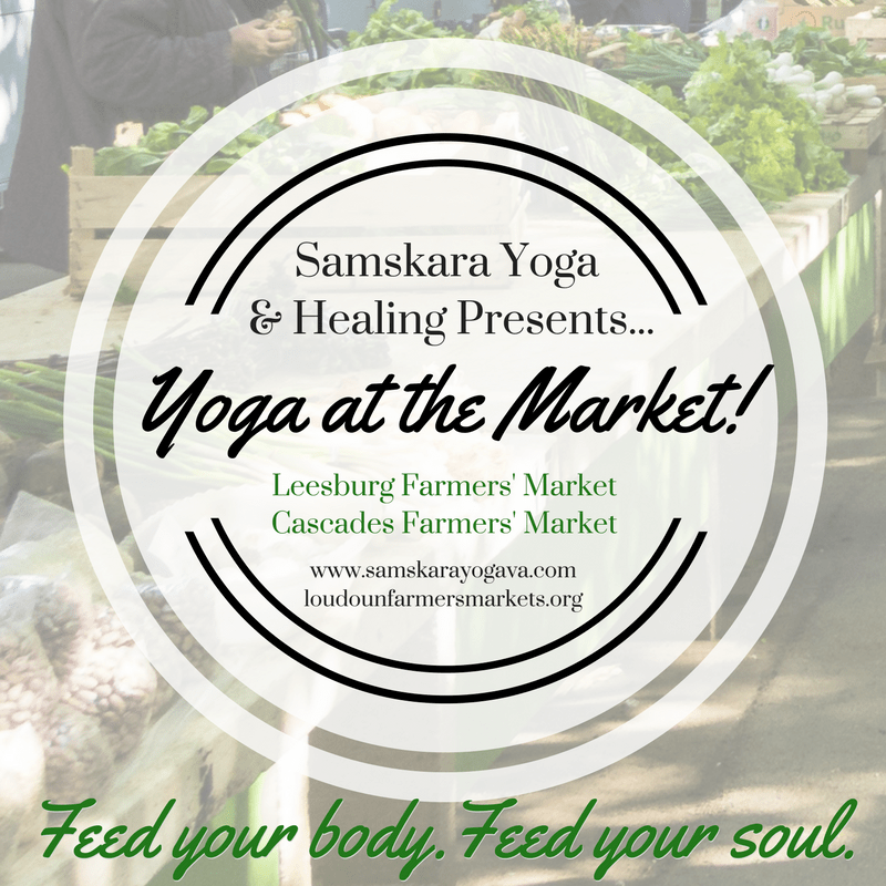 Yoga at the Market Leesburg Farmers Market