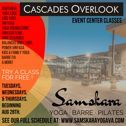 samskara yoga barre pilates event center classes
