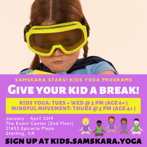 Samskara Stars Kids Yoga Sterling Dulles Ashburn