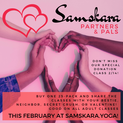 February Samskara Yoga Barre Pilates class