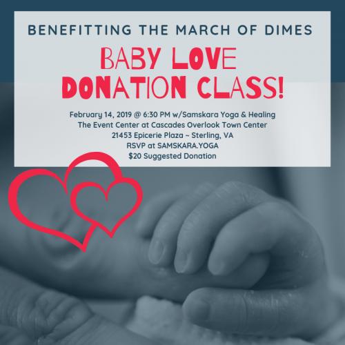 samskara baby love donation class feb 2019