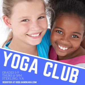 Yoga Club for Middle school yoga ashburn dulles sterling