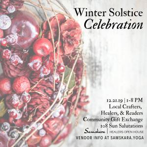 Winter Solstice Yule Market Healers Open House Samskara Yoga Dulles Sterling Ashburn Chantilly Herndon