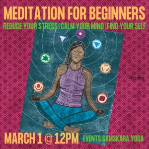 Meditation for Beginners at Samskara Yoga & Healing ashburn sterling dulles herndon chantilly leesburg
