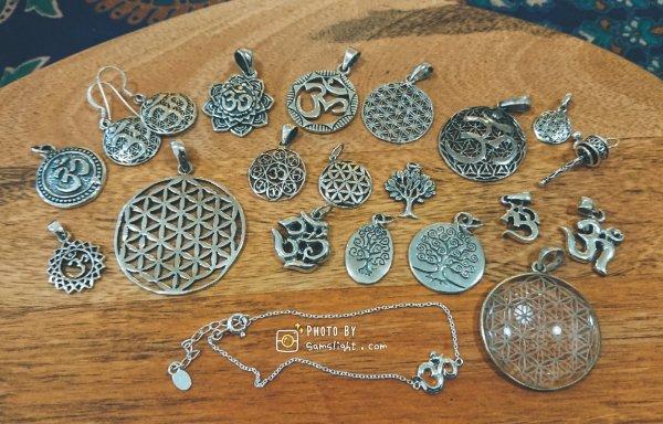 純銀吊咀耳環手鍊