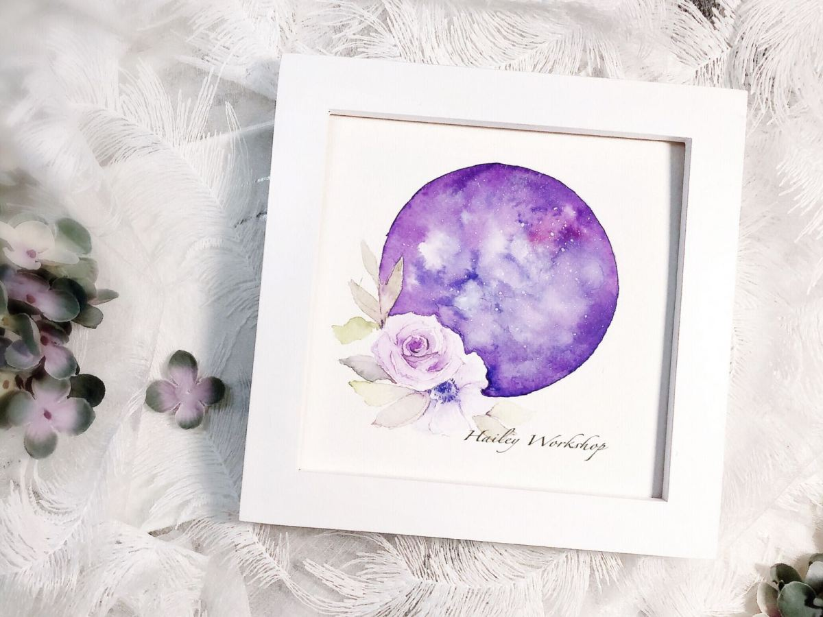 Galaxy Flowers painting class 花之星空水彩畫班