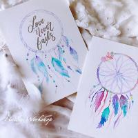 Dream Catcher Watercolour Class 捕夢網軟筆水彩班
