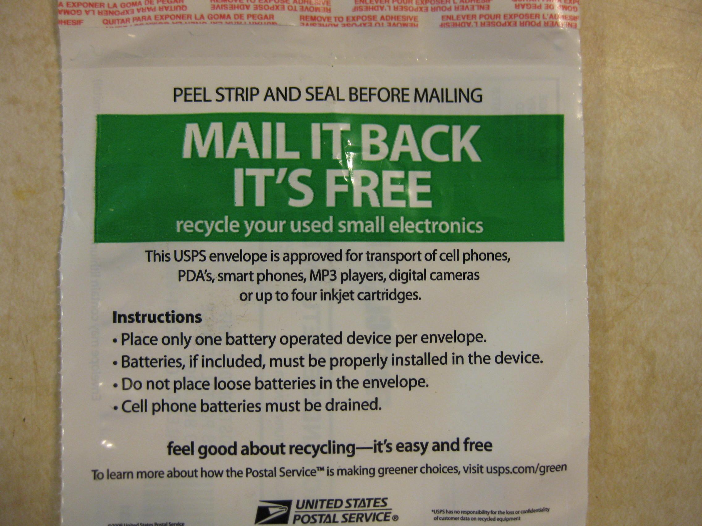 Back of Mailer