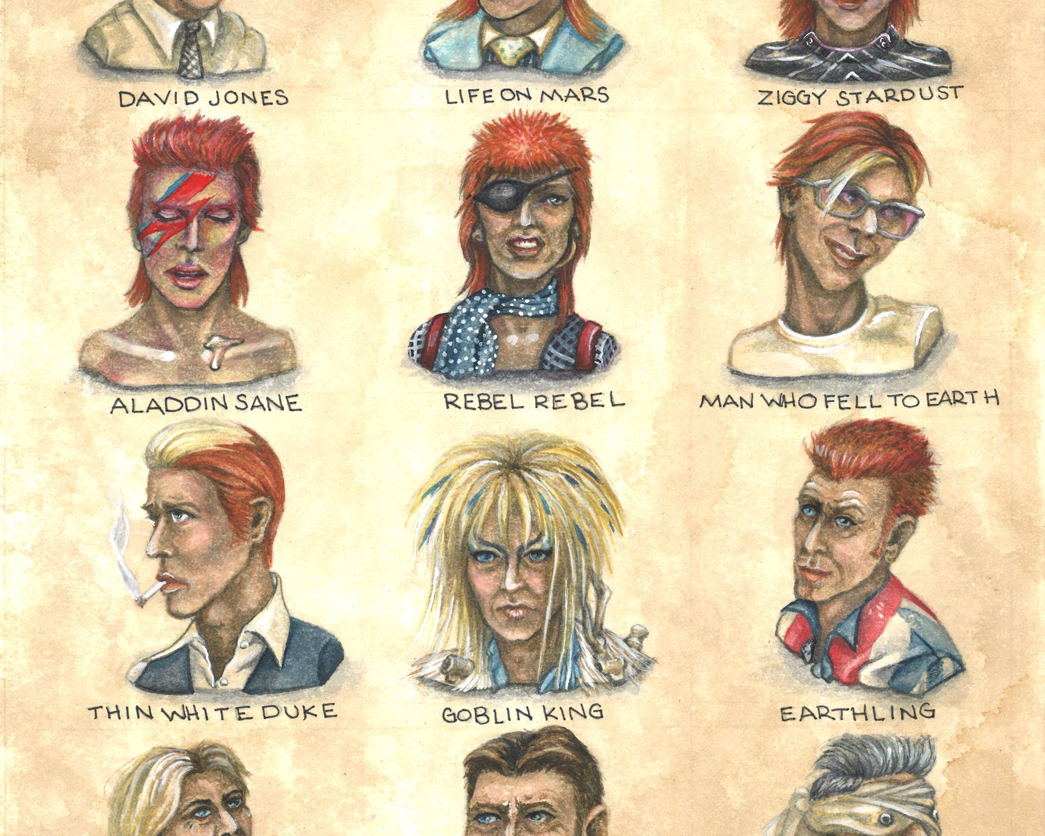 A Diamond Dozen: Lifetime Style Study of David Bowie
