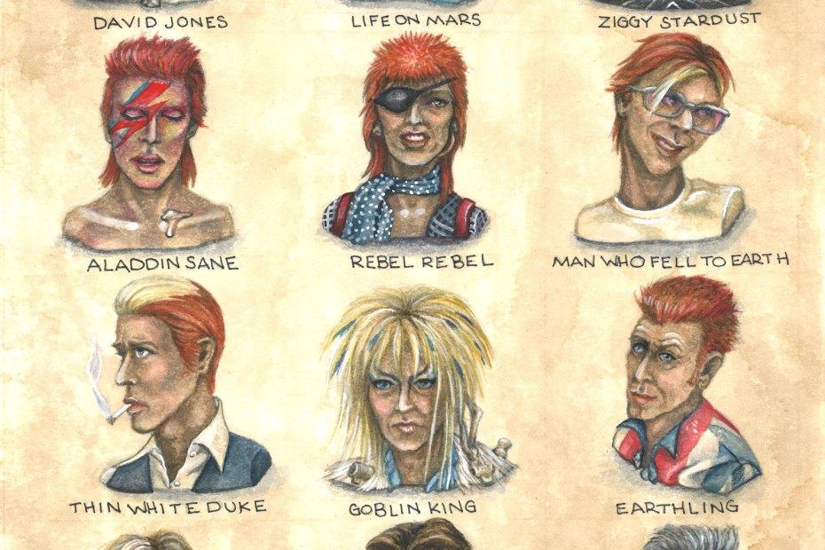 A Diamond Dozen: Lifetime Style Study of David Bowie