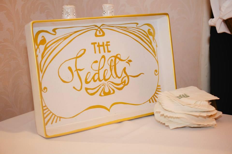 The Fedells — Decorative Wedding Tray