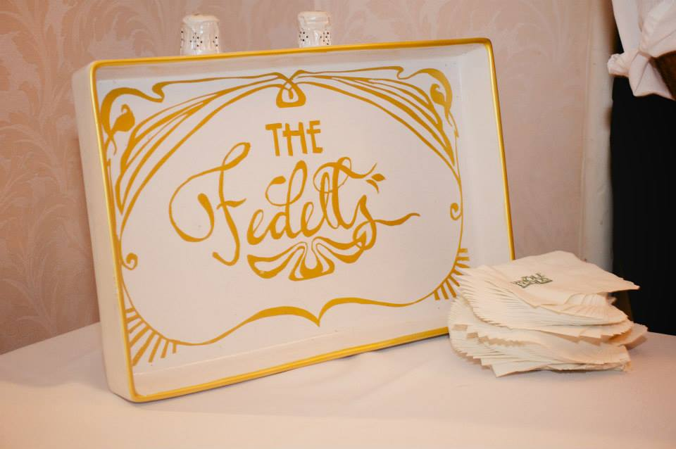 The Fedells — Decorative Wedding Tray