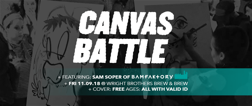 Canvas Battle at Afterhours Poster Show Opening Night