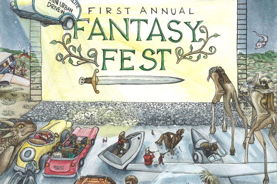 Blue Starlite Drive-In Fantasy Fest Poster