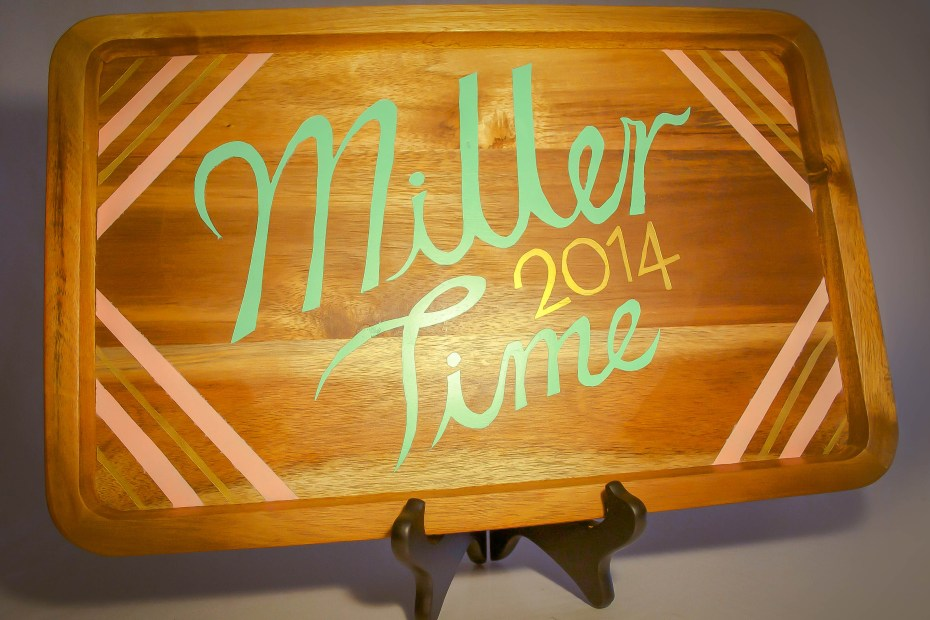 Miller Time — Decorative Wedding Tray