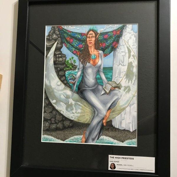 The High Priestess Krystalline Tarot Original