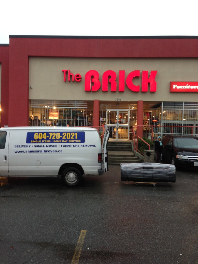 The Brick: Furniture, Mattress, Appliance and Electronics Pickup and Delivery Services