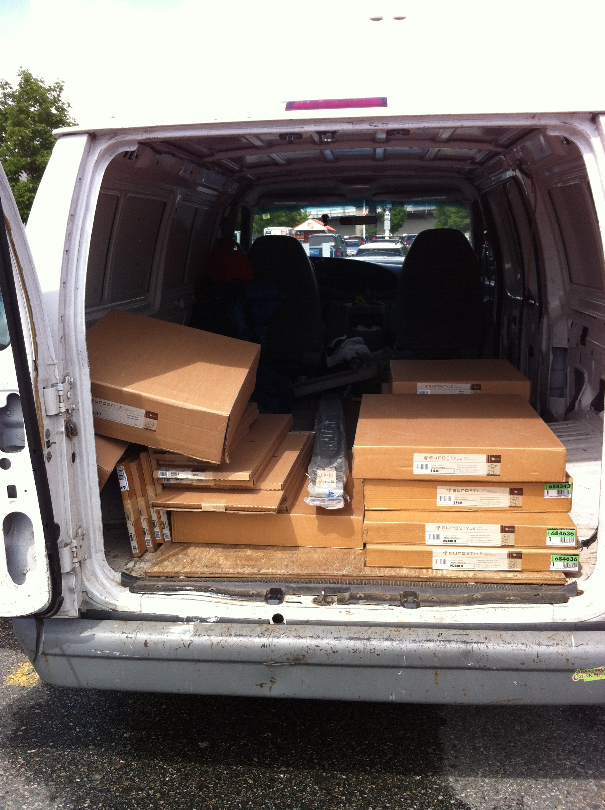 Clean cargo van for smaller moves or deliveries Vancouver