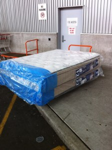 Queen Mattress And Box Spring Pickup Services, Delivery Services - Ikea, Costco, Home Depot, etc.