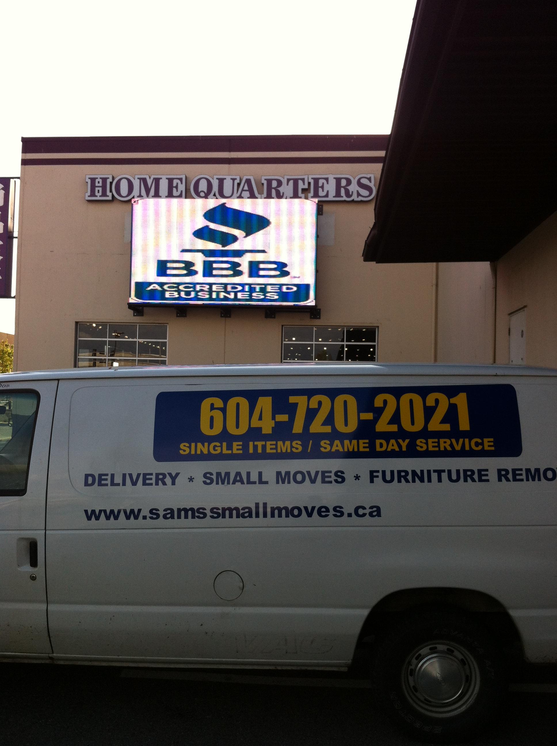 Craigslist Delivery Company Furniture Delivery Service Sam 39 S Small Moves Ltd Cheap Delivery
