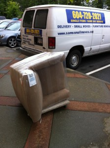 Van Delivery | Single white cushion sofa, single sofa, sofa chairs | Delivery Services : Furniture Delivery