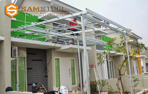 harga kanopi baja ringan atap polycarbonate samsteel jasa semarang – konstruksi kontraktor ...