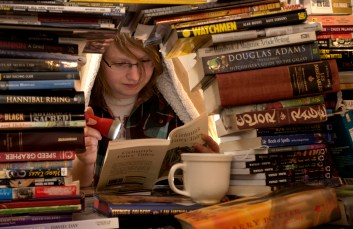 The book fort that I built with my friend Alyssa early last year was probably the most effort I put into the setup for a shoot.