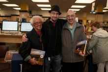 Me and my amazing grandparents. My grandfather was actually the one who opened the campus bookstore in Kent. Having the book signing there had a fantastic feeling of things coming full circle.