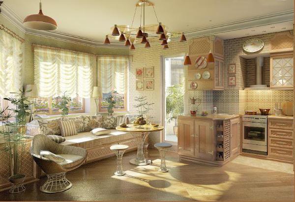 дизайн-кухни-гостиной-в-трехкомнатной-квартире-в-стиле-прованс