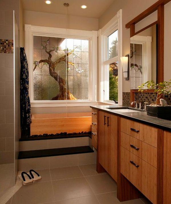 Toll Glauben Sie, Dass Das Badezimmer Ist Ein Im Japanischen Stil Fähigkeit Sich  Zu Entspannen Und Beruhigen Den Mann, Müde Nach Einem Anstrengenden Tag?