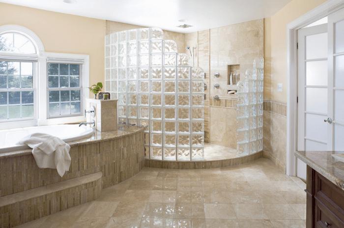 De verdeling van glazen bouwstenen - SamStroy - bouw, design ...
