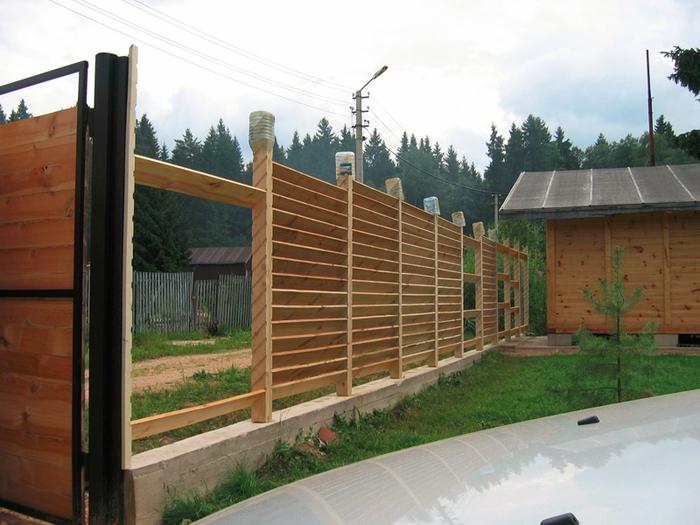 Деревянный забор-жалюзи своими руками 5 49 Строительный портал