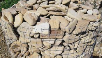 Натуральный камень песчаник галька Цветная