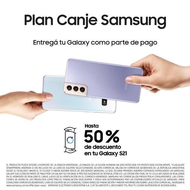 Plan Canje: celulares, tablets y televisores con hasta 50% de descuento