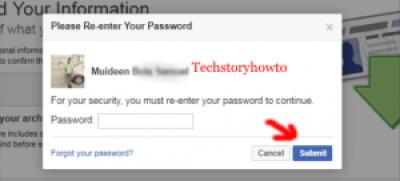 facebook profile backup
