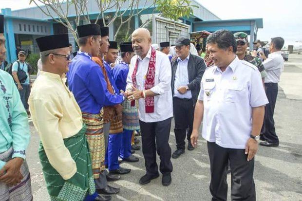 Wakil Bupati Wan Zuhendra, Sambut Kedatangan Wantimpres di Anambas, SamuderaKepri