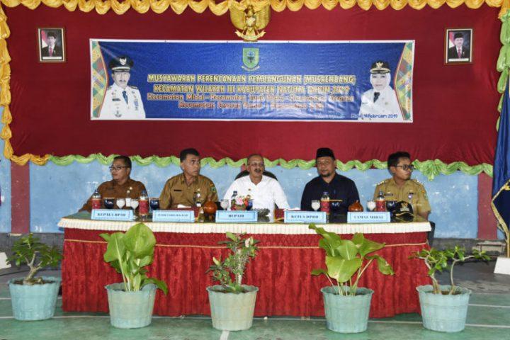 Pembukaan Musrenbang Kecamatan Wilayah III Kabupaten Natuna