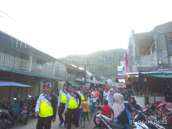 , Jelang Pemilu 17 April, KPU Kabupaten Kepulauan Anambas Gelar Jalan Santai dan Senam Sehat, SamuderaKepri
