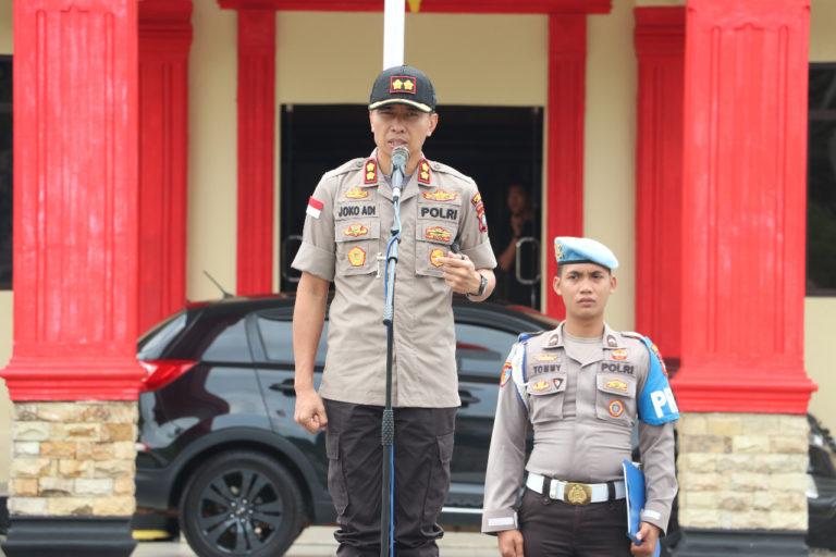 110 Personel Gabungan Dilibatkan Dalam Apel Kesiapsiagaan Jelang Pengumuman Penetapan Presiden