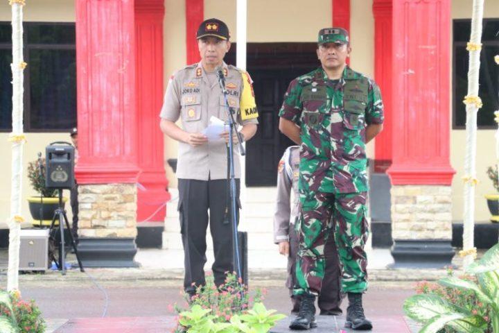 Polres Lingga Bersama Lanal DBS Laksanakan Apel Konsolidasi Operasi Ketupat Seligi 2019, SamuderaKepri