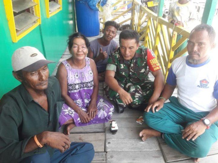 , Babinsa Koramil 05 Melaksanakan Giat Komsos Bersama Warga Dapur Arang, SamuderaKepri