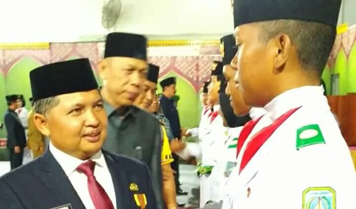 Upacara Pengukuhan Paskibraka Kabupaten Kepulauan Anambas