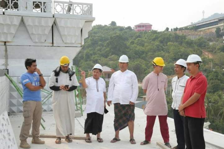, Bupati dan Wakil Bupati Tinjau Langsung Pembangunan Masjid Agung, SamuderaKepri