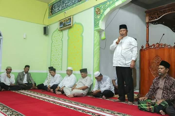 Maghrib berjamaah Di Masjid Al-Amin Batu Tambun