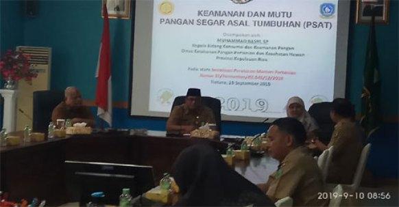 , Keamanan dan Mutu Pangan Jadi Perhatian Serius Pemkab Natuna, SamuderaKepri