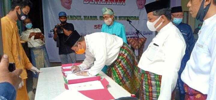 Deklarasi Abdul Haris.SH - Wan Suhendra sebagai Bakal Pasangan Calon Bupati dan Wakil Bupati Kepulauan Anambas