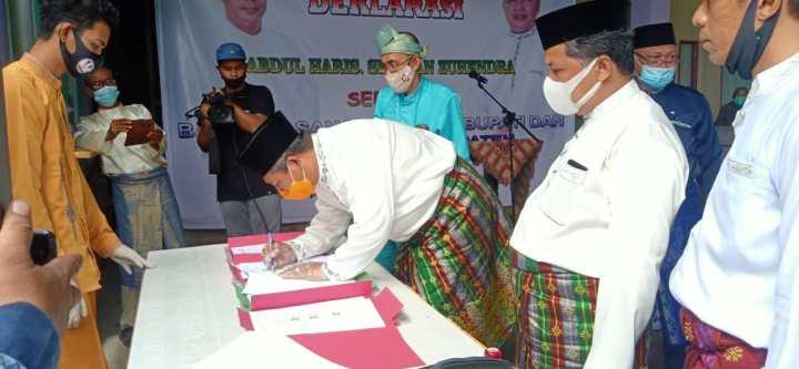 Deklarasi Abdul Haris.SH – Wan Suhendra sebagai Bakal Pasangan Calon Bupati dan Wakil Bupati Kepulauan Anambas, SamuderaKepri