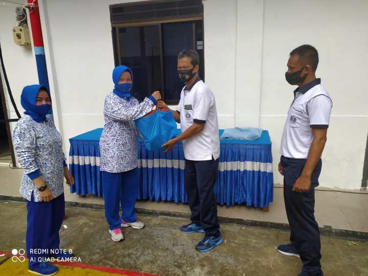 New Normal, New Normal, Danlanal Tarempa Bersama Seluruh Prajurit dan Ibu Jalasenastri Olahraga Bersama, SamuderaKepri